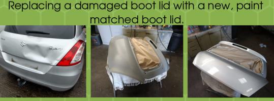 Boot lid repair