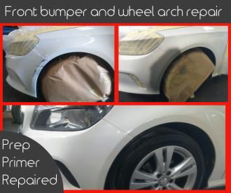 front bumper wheel arch FB picture