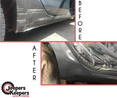 before and after sill arch repair